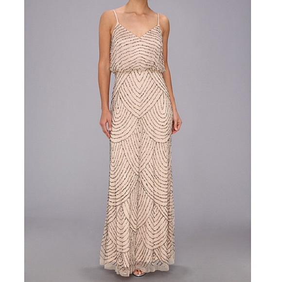 Adrianna Papell Art Deco Beaded Blouson Gown | Poshmark