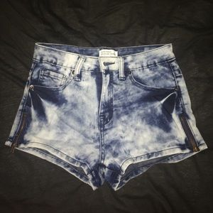 Urban Outfitters Pants - acid wash denim shorts high waisted