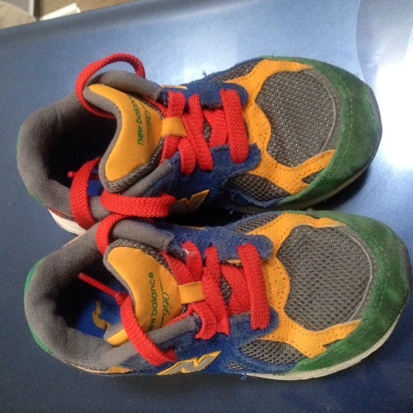 info for b82b2 baee8 Toddler New Balance 990 multi color size 8