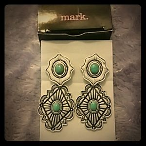 Mark by Avon  Jewelry - Silver/ turquoise look stones. New w/box🐘