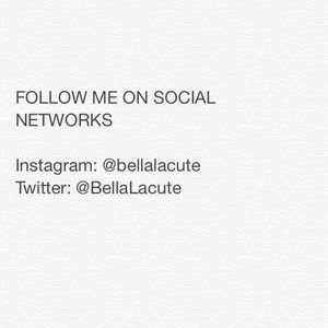 Follow me on social networks !