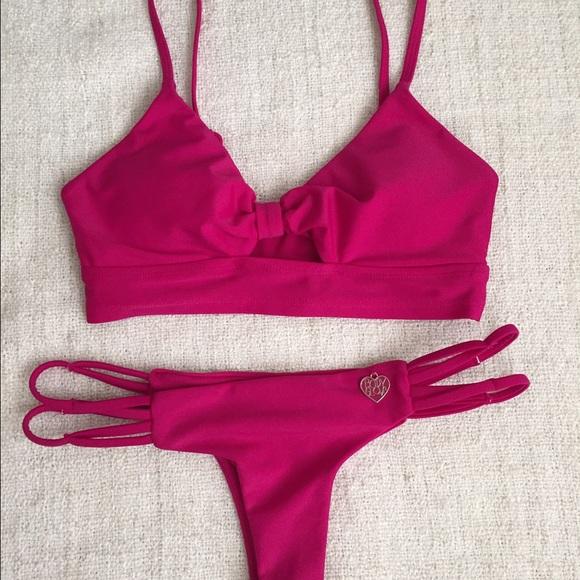 48 off acacia swimwear other body glove pink brazilian