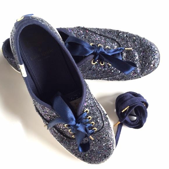 af5e7ceb9833 kate spade Shoes - Kate Spade Navy Glitter Keds - Size 7
