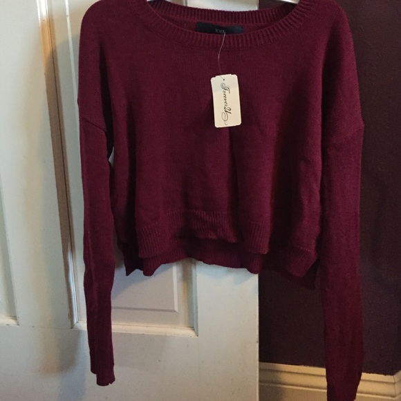 50% off Forever 21 Sweaters - Maroon Cropped Sweater from Liz's ...