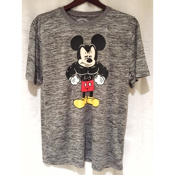 DISNEY MICKEY MOUSE T-SHIRT MENS BLACK DISNEYLAND CARTOON TEE TOP
