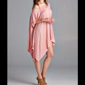 Dusty Pink Asymmetrical Tunic