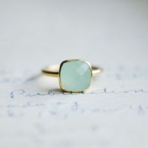 Jewelry - New Chalcedony & Gold Vermeil Ring