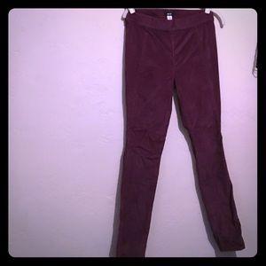 Purple suede pants. Brand new.
