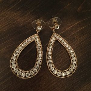 Gorgeous CZ and Gold Colored Earrings