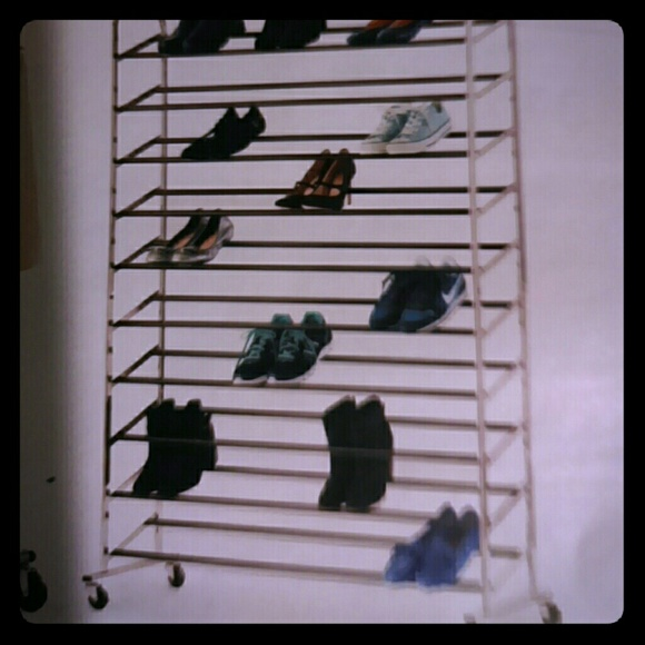 shoes rolling shoe rack holds 50 pairs