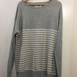 "One Teaspoon Sweaters - One Teaspoon grey striped ""cashmere"" sweater in M"