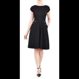 eshakti Dresses & Skirts - New Eshakti Black A-line Knit Dress XS 0