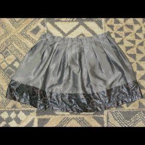 Cute Pleated Mini Skirt w Animal Print Sz S new