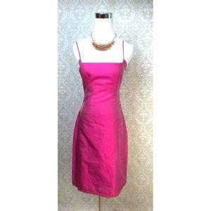 Tahari pink Chinese silk strap he dress size 2