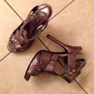 Paprika Shoes - Purple/Silver Paprika Heels
