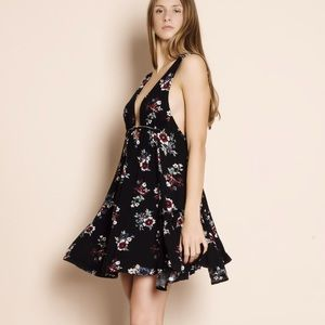 """Kiss and Tell"" Floral Print Mini Dress"