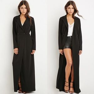 Forever 21 Jackets & Blazers - Forever 21 Double Breasted Wrap Dress Duster Sz M