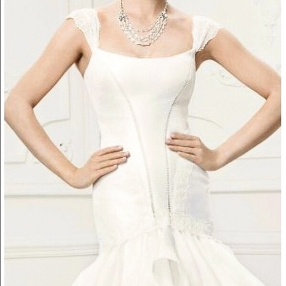 Zac Posen Dresses & Skirts | Truly Zac Posen Wedding Dress With Sash ...