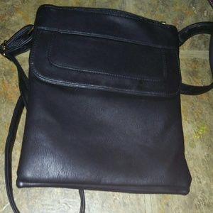 Cute black leather purse