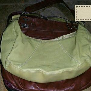 Green hand bag purse