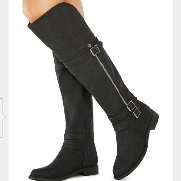 44 justfab shoes knee high boots from s