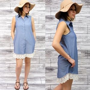 1 HR SALEVIVIENNE sleeveless shirt dress DENIM