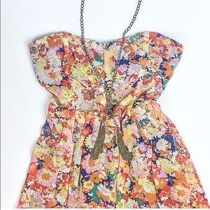 Lucca Couture Dresses & Skirts - HP❤️Floral Strapless Dress