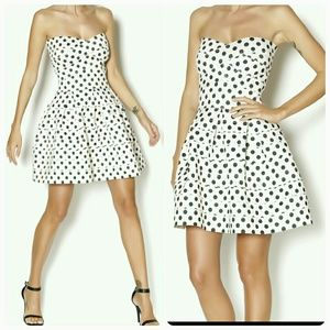 NWT Gracia polka dot elastic band dress