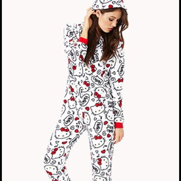 ba5a0b27b Forever 21 Intimates & Sleepwear | Hello Kitty Onesie Pajama | Poshmark