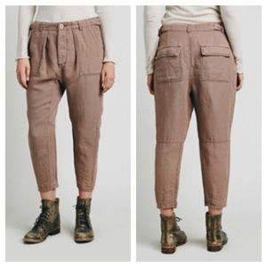Free People Knox Cropped Utility Pant, Size 6