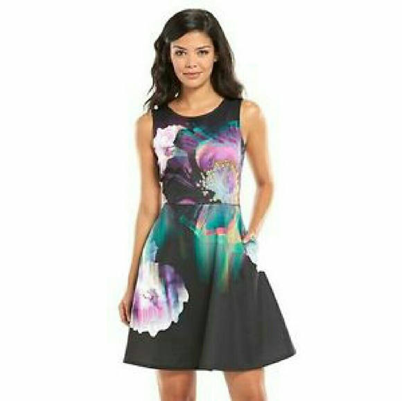 67% off Apt 9 Dresses & Skirts - Apt 9 fit and flare floral scuba ...