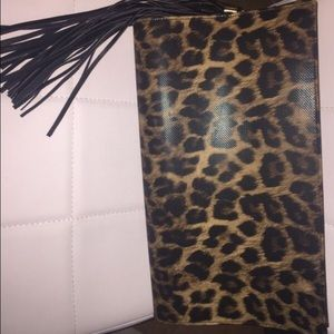Leopard oversized clutch WITH TAGS