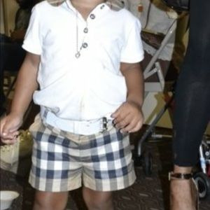 Baby Burberry shorts set bought at Bloomingdales
