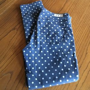 Anthropologie Denim - AG Adriano Goldschmied The Stevie Ankle Polka Dot