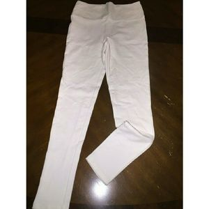 Foreign Exchange Pants - White High-Waisted Pants