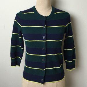 J. Crew Sweaters - 🌷J. Crew stripe cardigan🌷