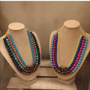 Gemstone Beaded Statement Necklace
