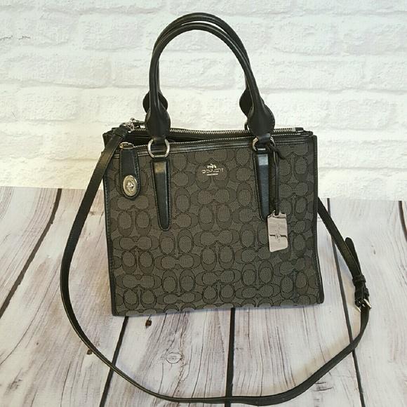 Coach Handbags - Coach Signature Crosby Carryall Bag 37bde4f542194