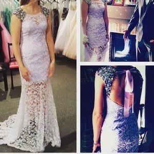 Slim prom dress.