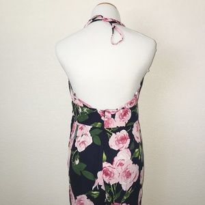 Citrus and Lavender Lane Dresses - Navy Floral Jumpsuit