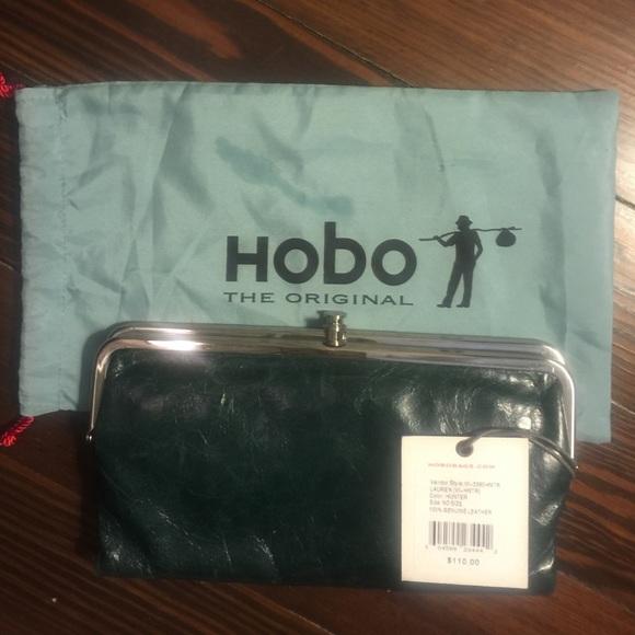HOBO INTERNATIONAL LAUREN WALLET IN HUNTER GREEN 1e8c994effe8a