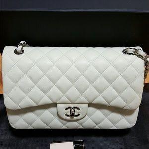 Chanel Jumbo Double flap bag Caviar Ivory SHW
