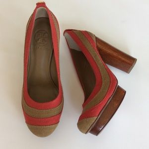 Tory Burch Shoes - 🎉💕HP💕🎉Tory Burch Joelle Linen Colorblock Heels