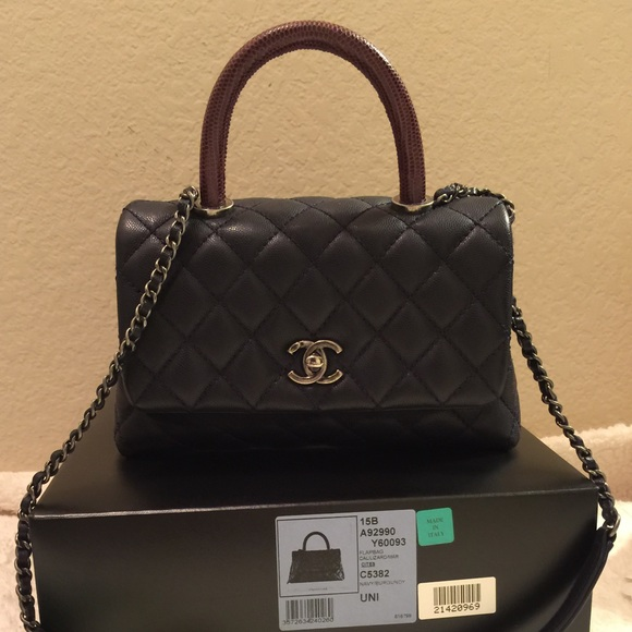 b7879c34bab938 CHANEL Bags | Coco Calfskin Flap Bag With Lizard Handle | Poshmark