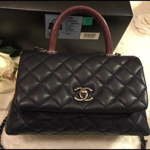 d8ee4108739992 CHANEL Bags | Coco Calfskin Flap Bag With Lizard Handle | Poshmark