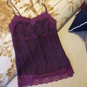 Express Lace trim blouse