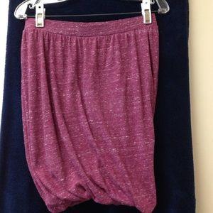 Free People Maroon heather mini skirt size XS