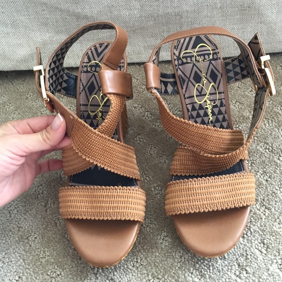 af643c258ee Jessica Simpson Shoes - Jessica Simpson camel colored wedges