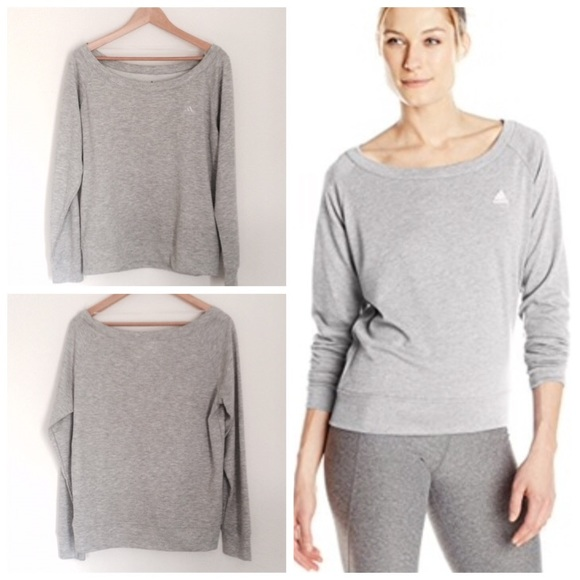 33% off Adidas Sweaters - 💎NWT💎Adidas Off The Shoulder/Boatneck ...