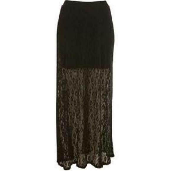 87 pacsun dresses skirts black lace maxi skirt